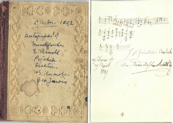 Copy of Mendelssohn's autograph