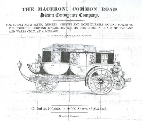 Copy of Francis's steam carriage