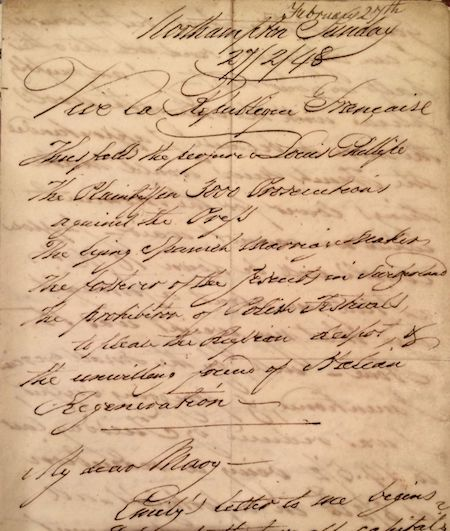 Copy of Letter from George