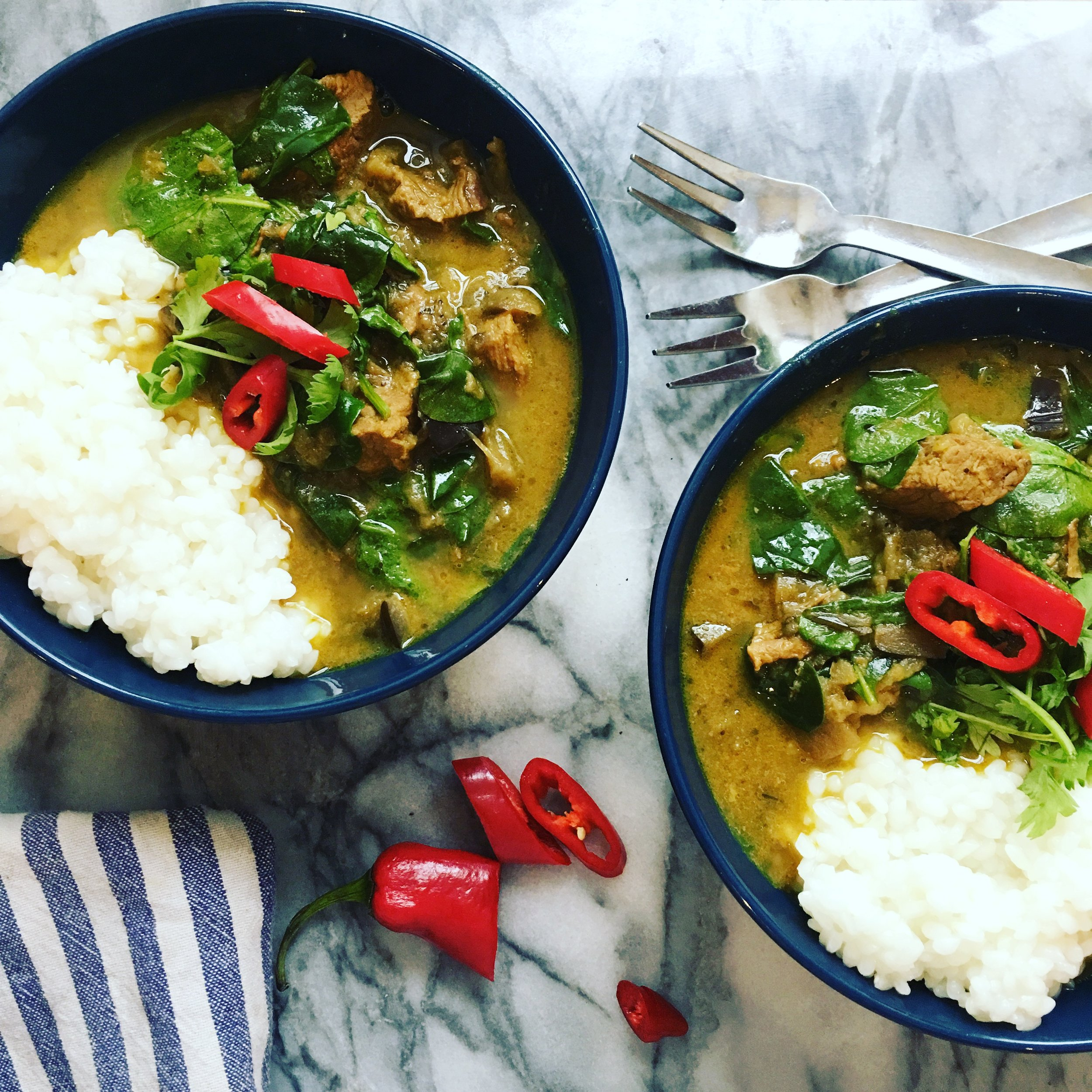 Coconut & Beef Curry