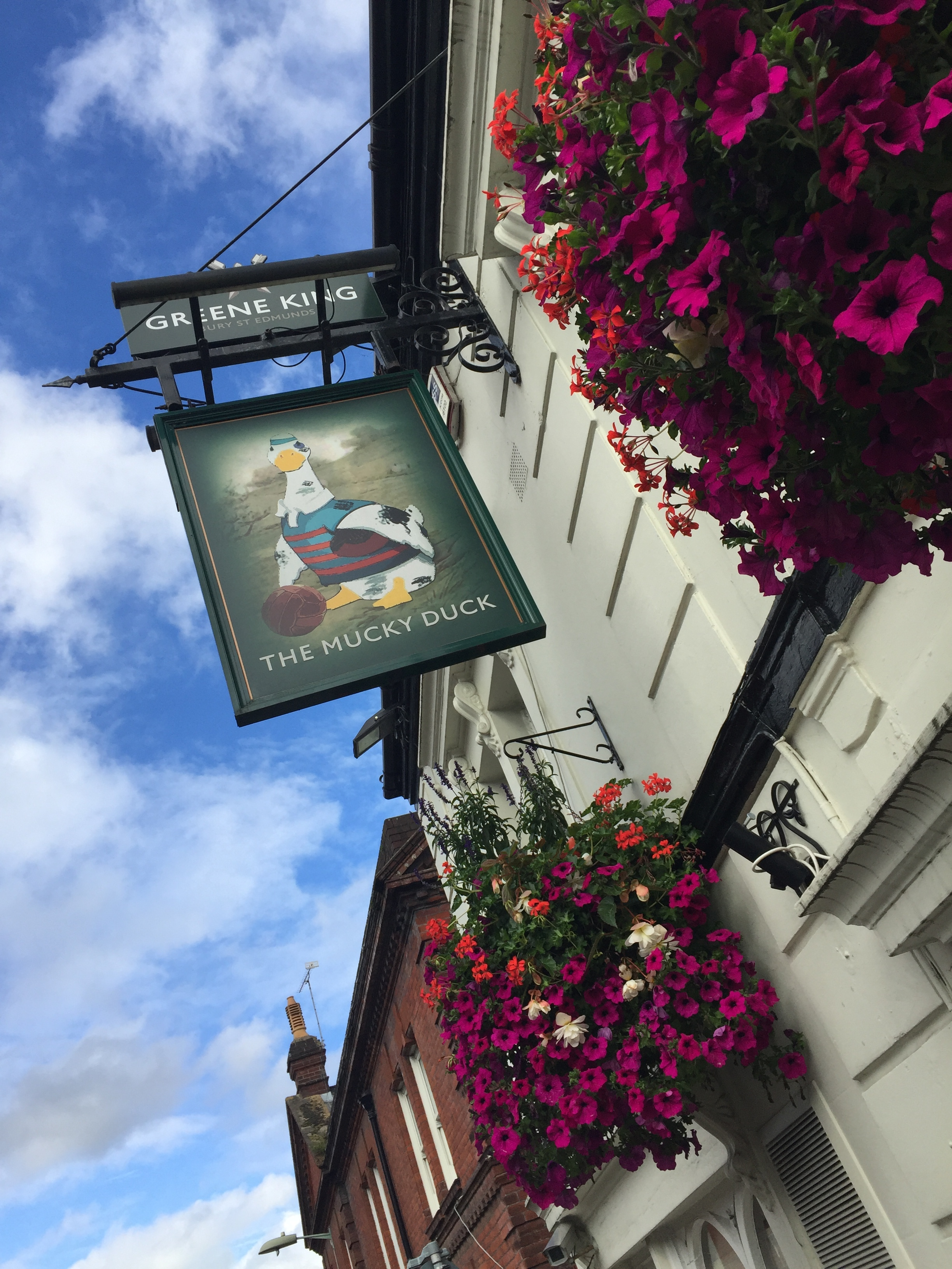 The Mucky Duck sign