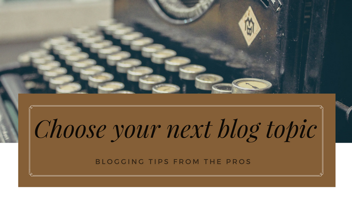 What should I blog about