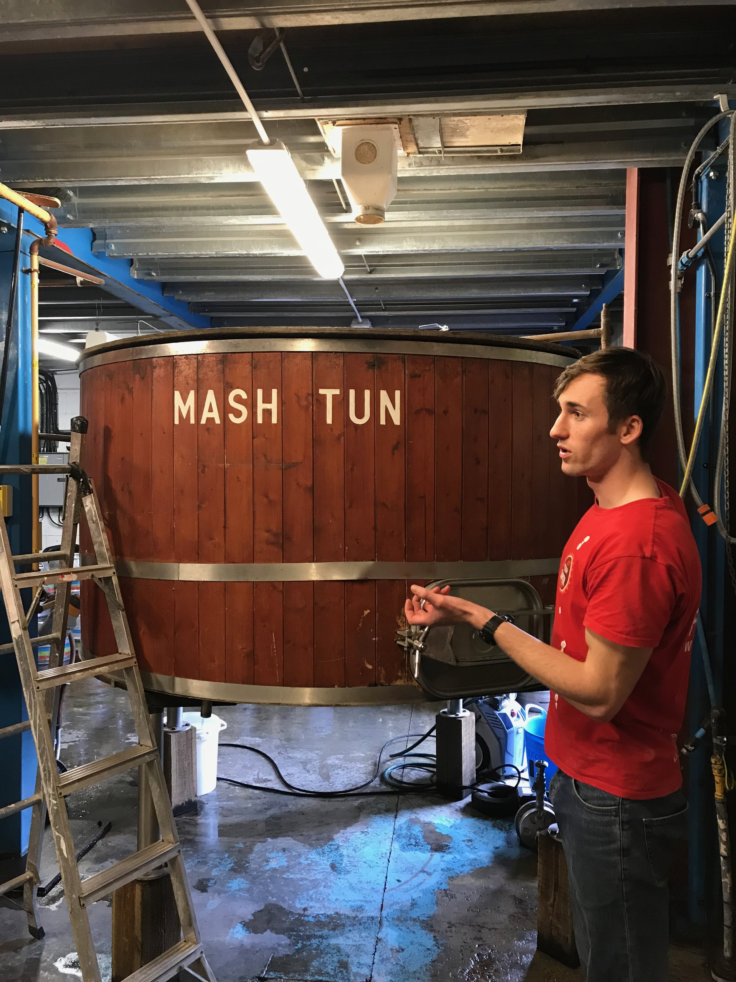 Dom from Itchen Valley Brewery was our able tour guide