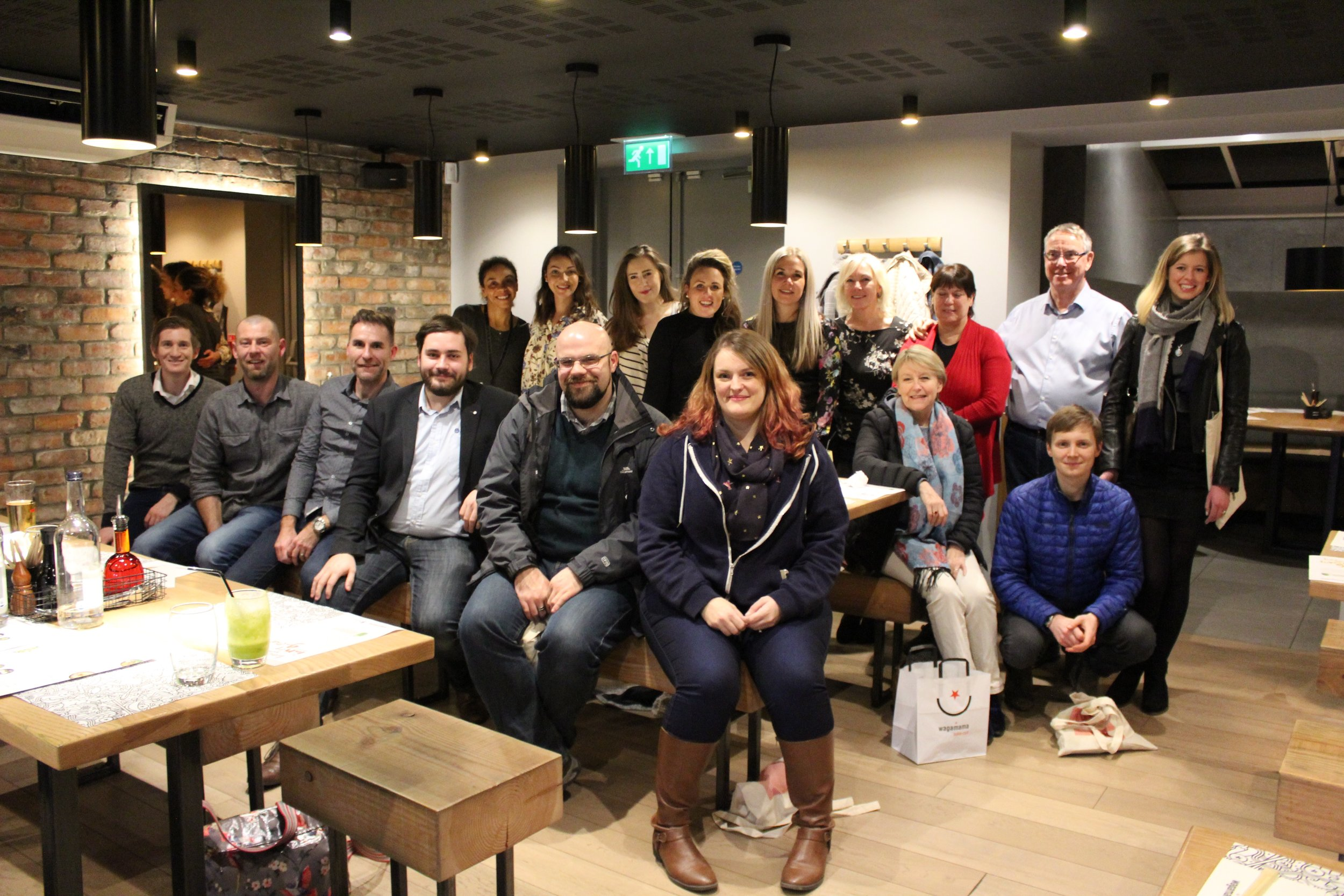 The Winchester Bloggers who attended the Wagamama and MIND event.