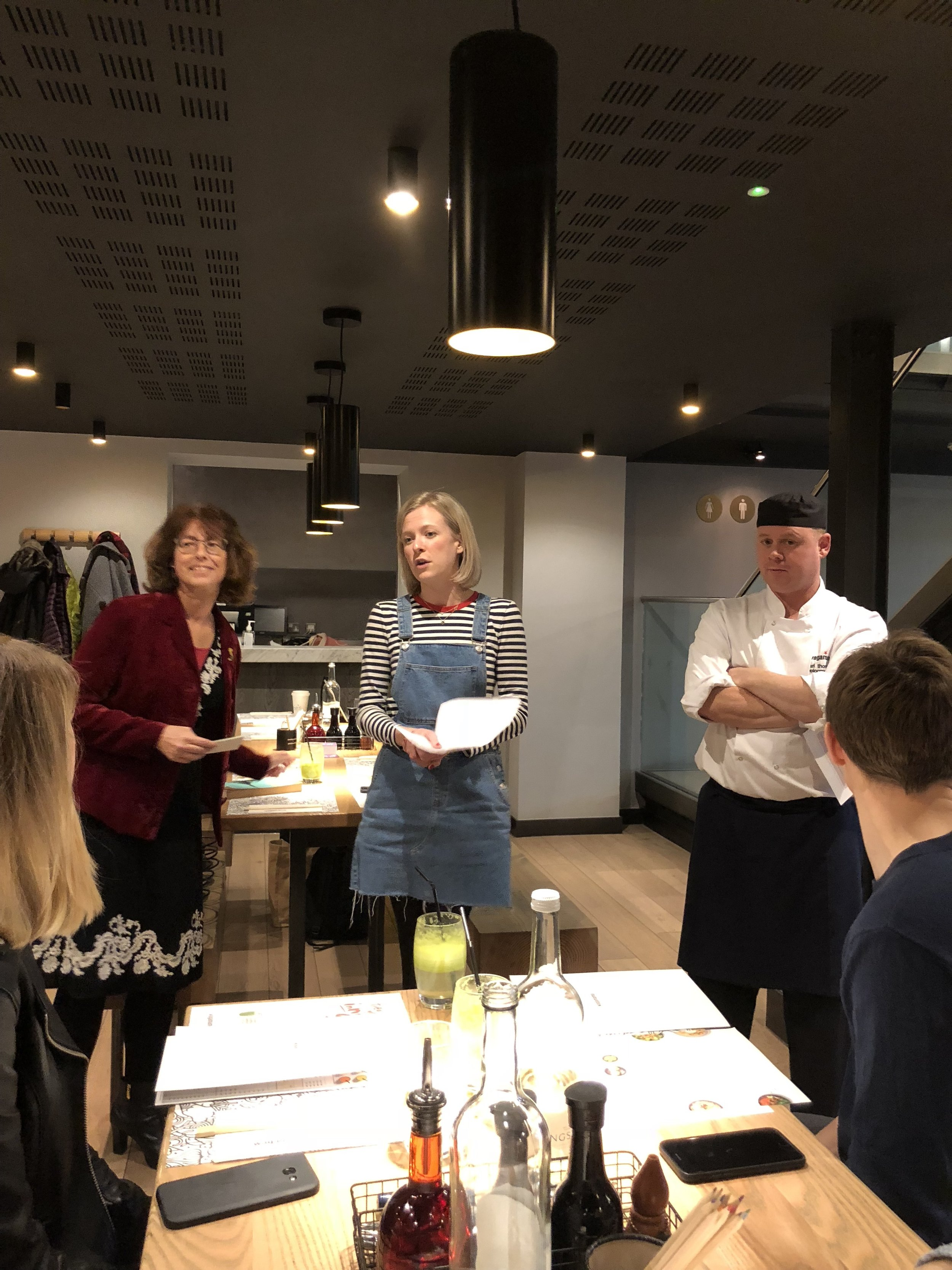 Mia and Karl from Wagamama, plus Sue from Mind, did a great job explaining the connection between mindful eating and a healthy mind