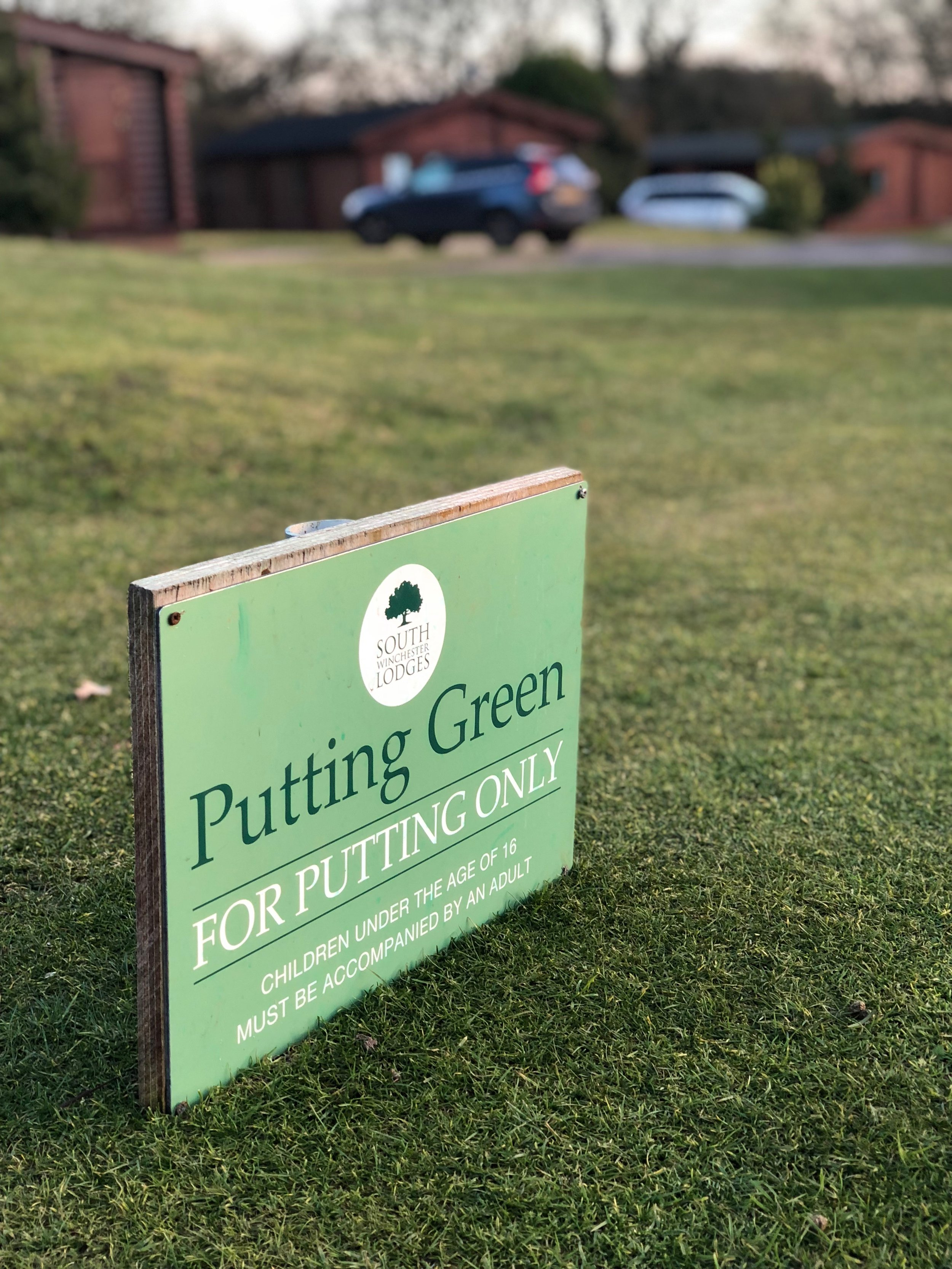 High quality putting green is great for families
