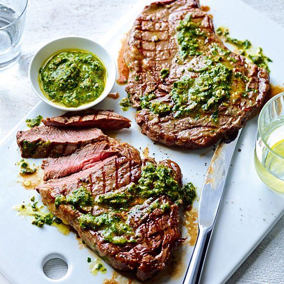 M&S steak with salsa verde