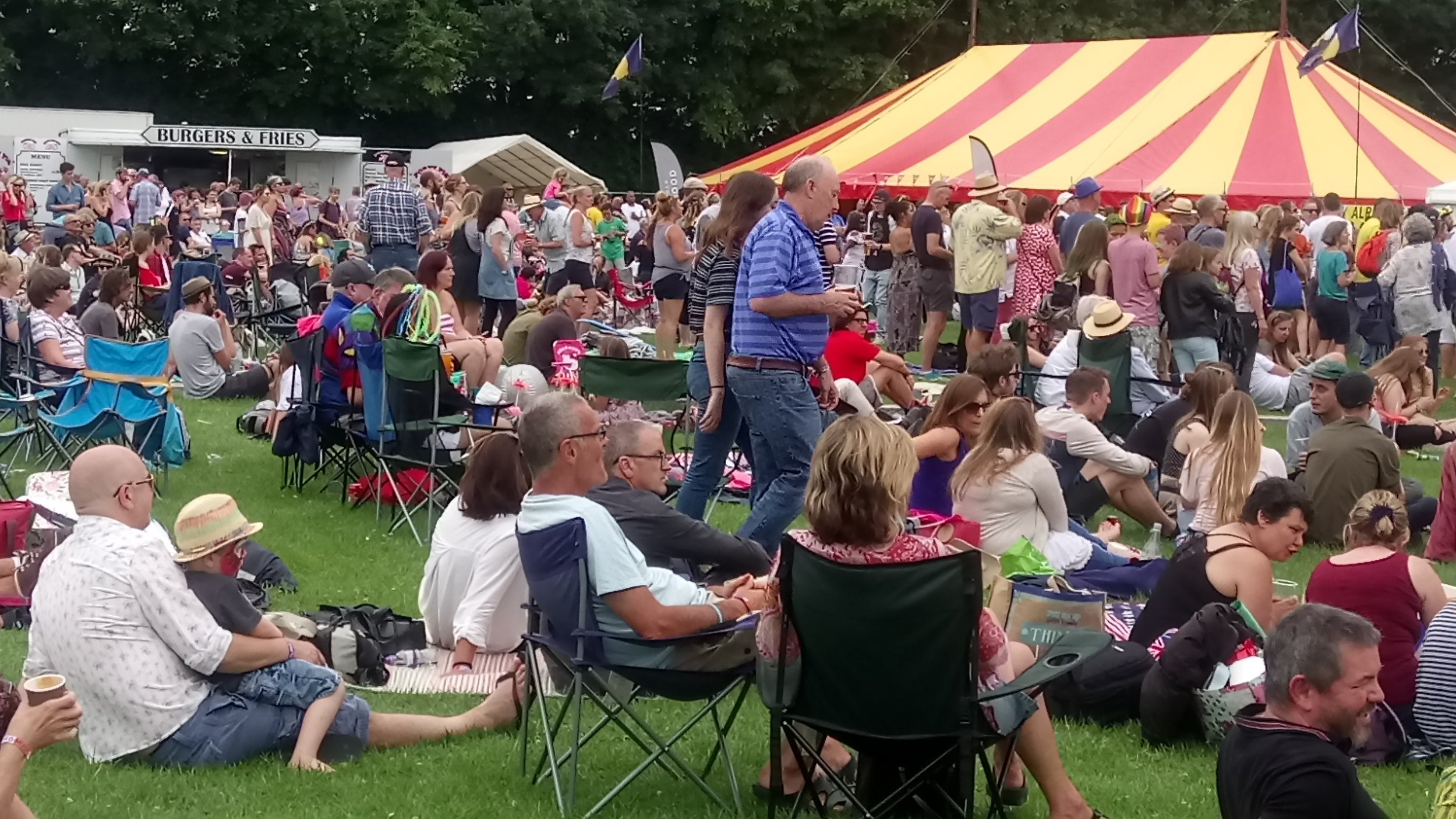 Relaxing at the Arlesford Music Festival