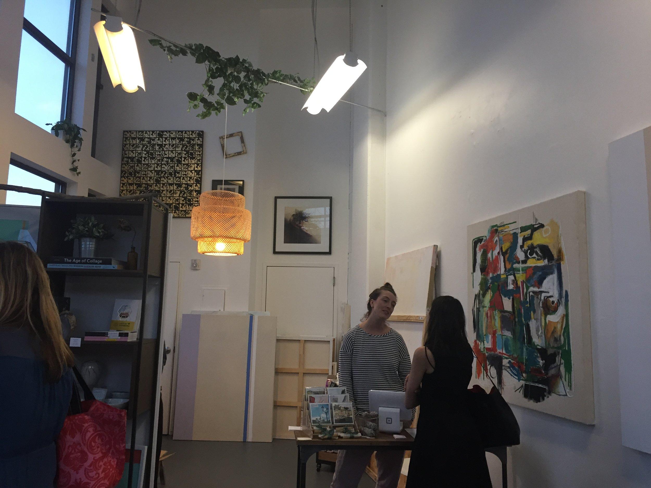 ArtTable members visit Latela Gallery.