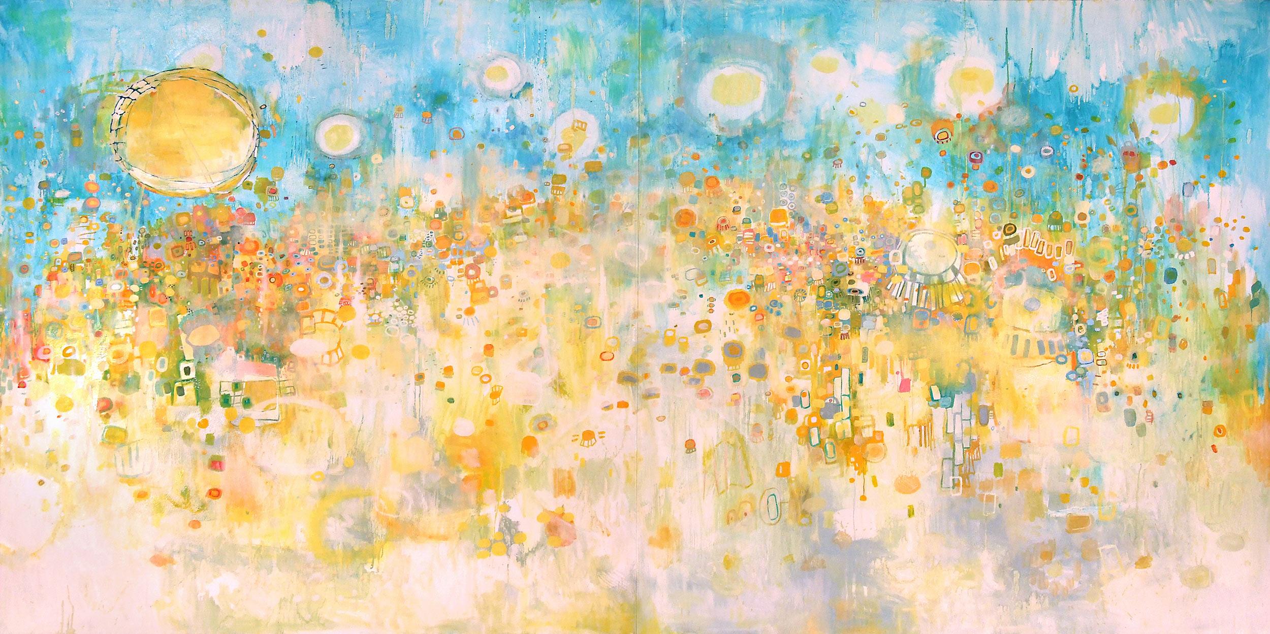 """El Sur, 2008. Oil on canvas, 72 x 144""""."""