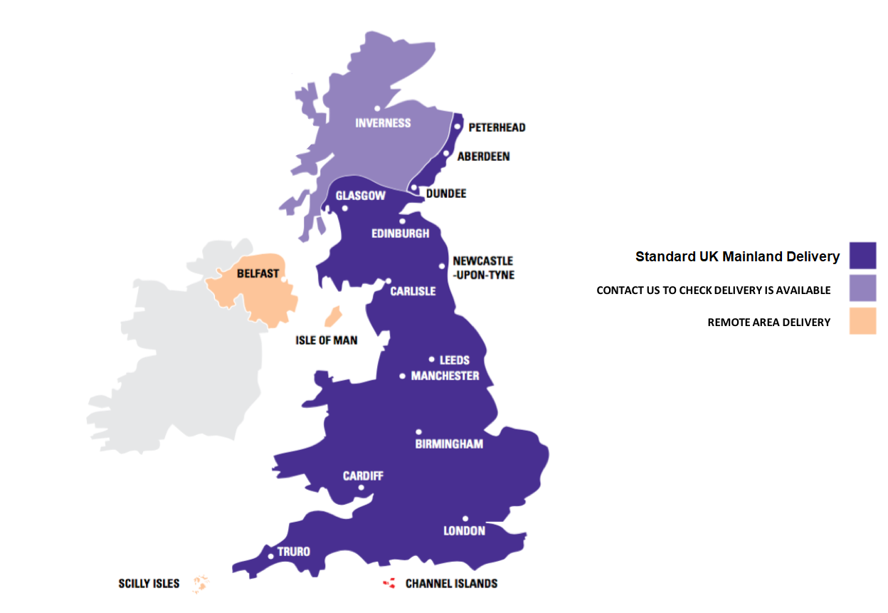 OUR UK MAINLAND DELIVERY MAP