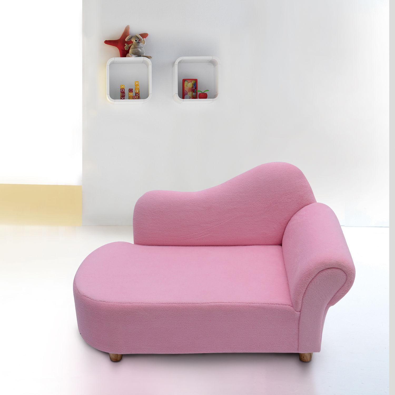 - HOMCOM Velvet Kids Chaise Lounge Sofa-Pink — MH Star