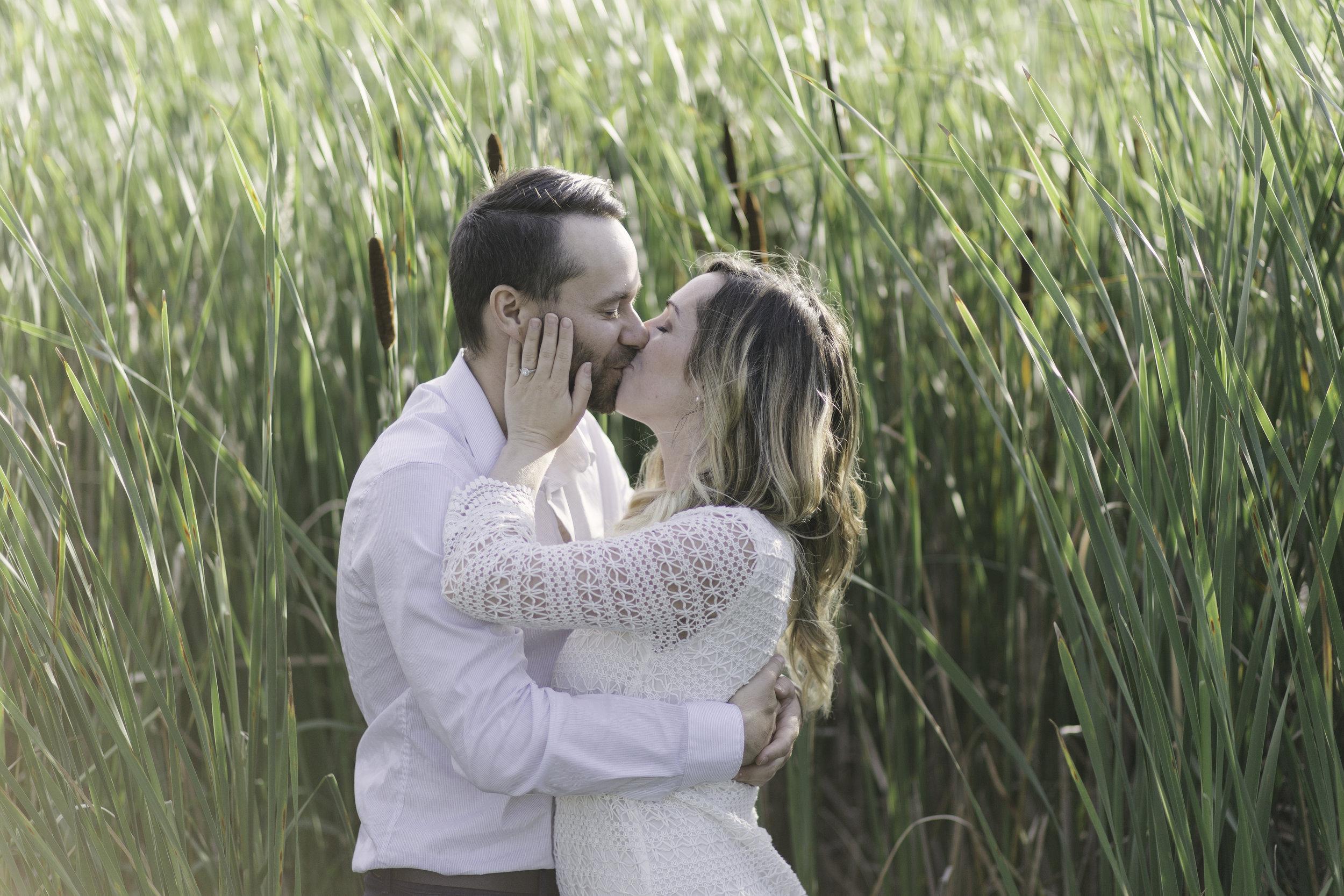 Erin + Derek Sunset Engagement Photo