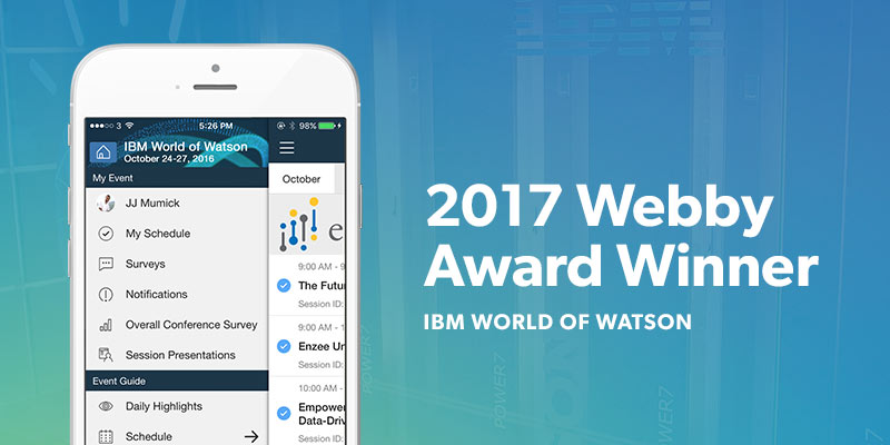 IBM World of Watson award winning event app