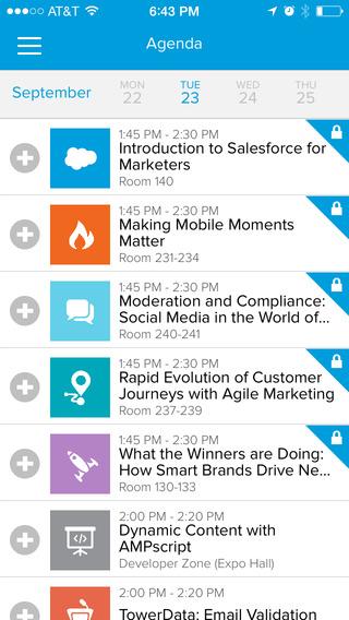 event app agenda