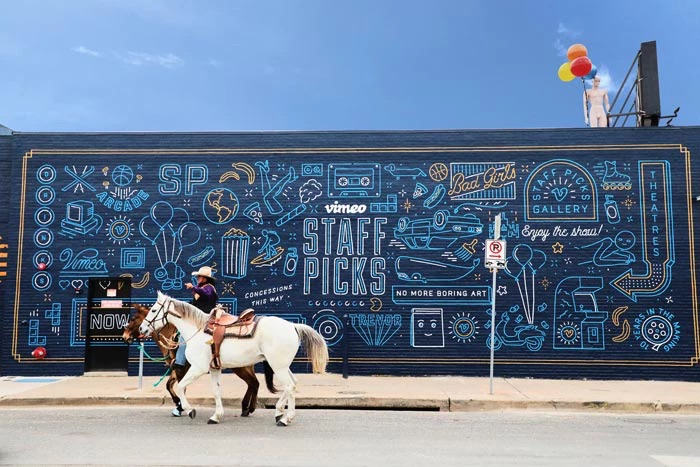 Vimeo brought together experiences from iconic films in their SXSW activation. Image from    Vimeo   .