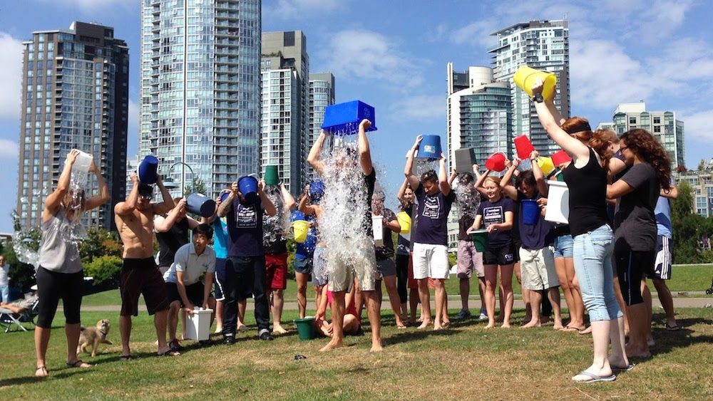 The Eventbase team participates in the ALS Ice Bucket Challenge.