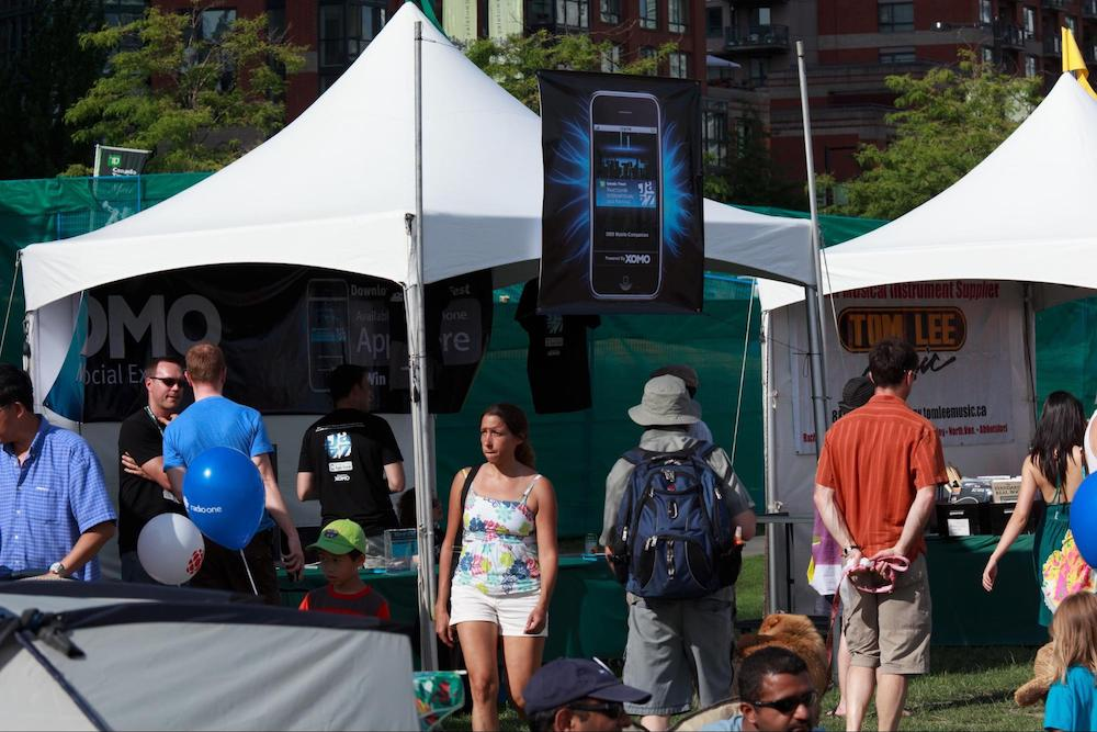 The Vancouver Jazz Festival app was one of the apps produced by Eventbase, formerly known as Xomo Digital.