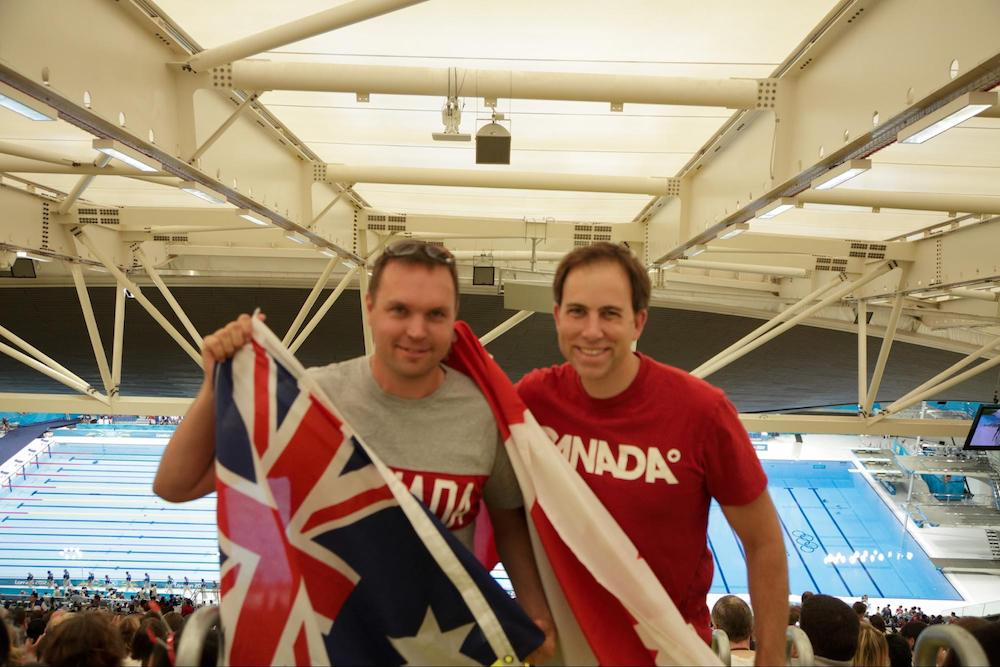 Sinclair and West take in the 2012 London Olympic Games.