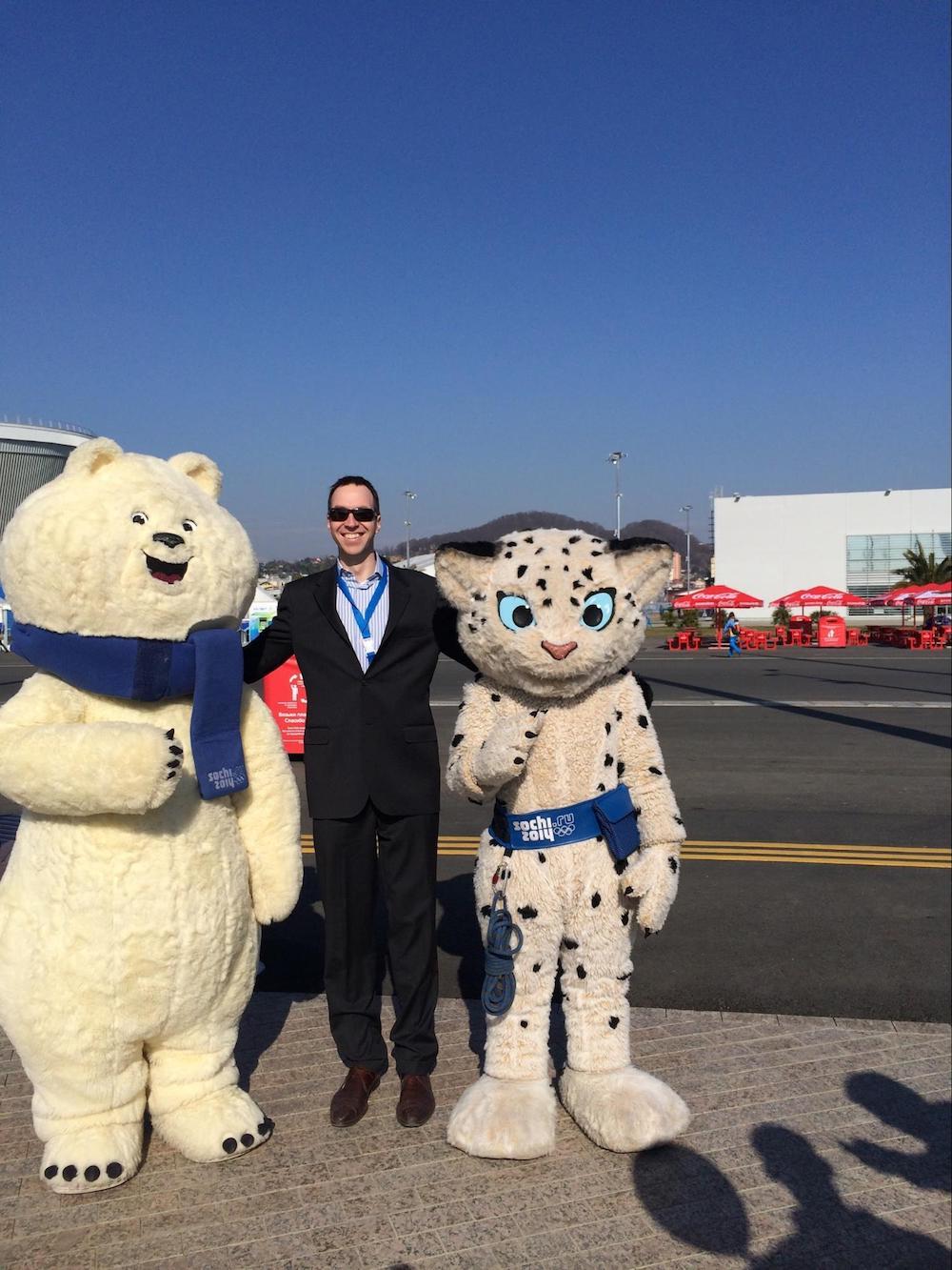 EMEA Managing Director, Richard Caelius, onsite at the 2014 Sochi Olympic Games.