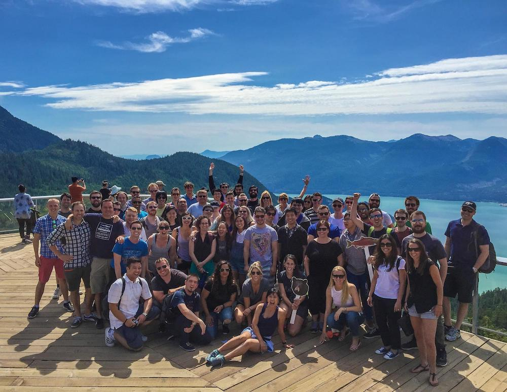 The Eventbase team enjoyed the Sea to Sky Gondola in Squamish, British Columbia.