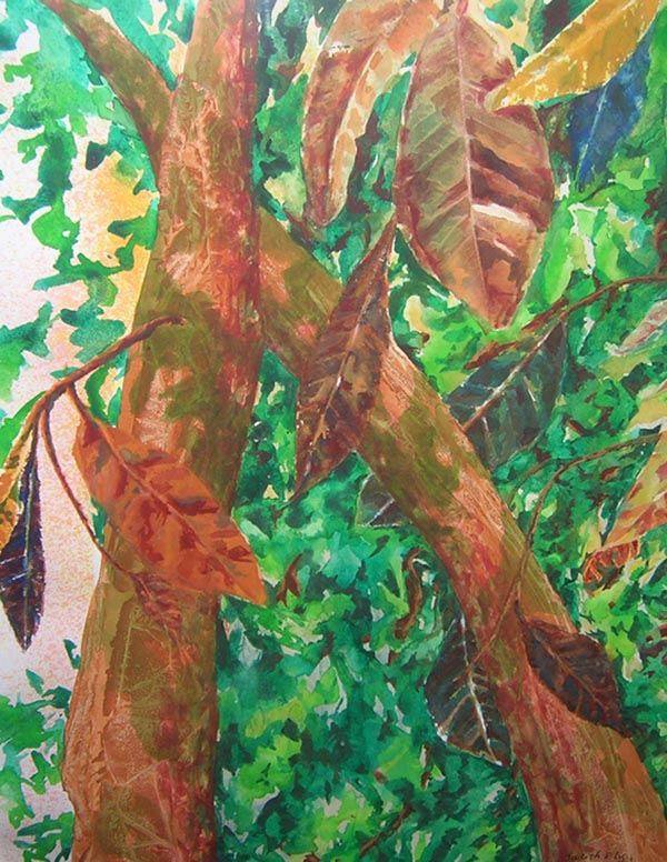 Trees and Leaves - 29 x 34