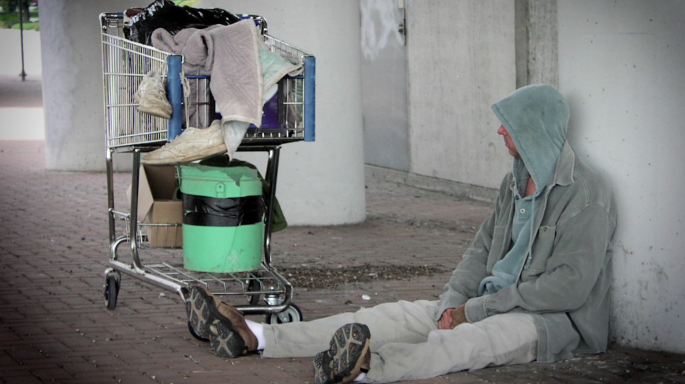 """- Alan defines chronically homeless as """"an unaccompanied male or female with a disabling condition who has lived on the streets for at least a year"""