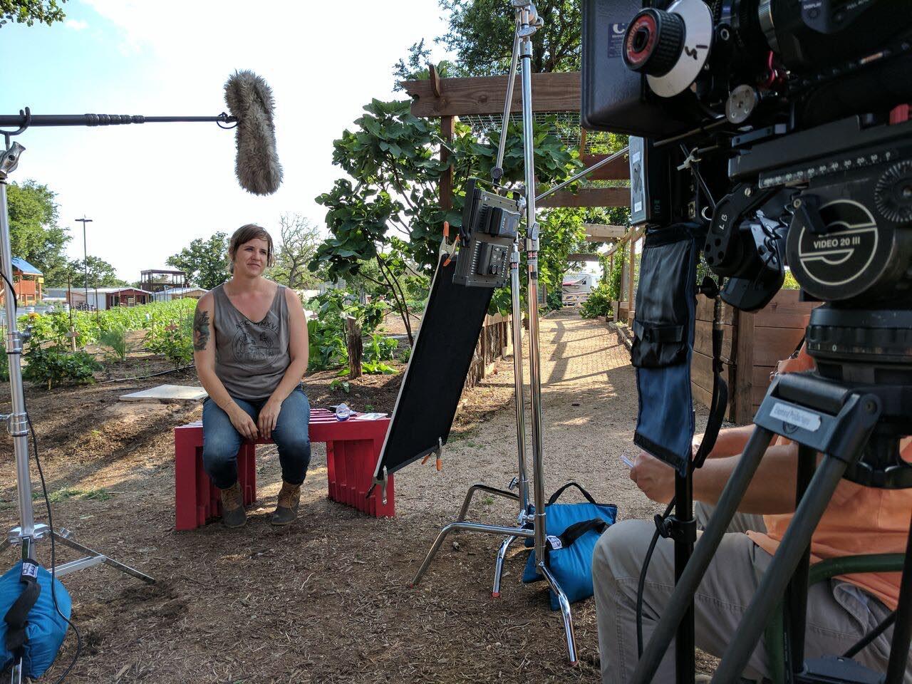 Interviewing Heidi Sloan, Gardens Program Director.