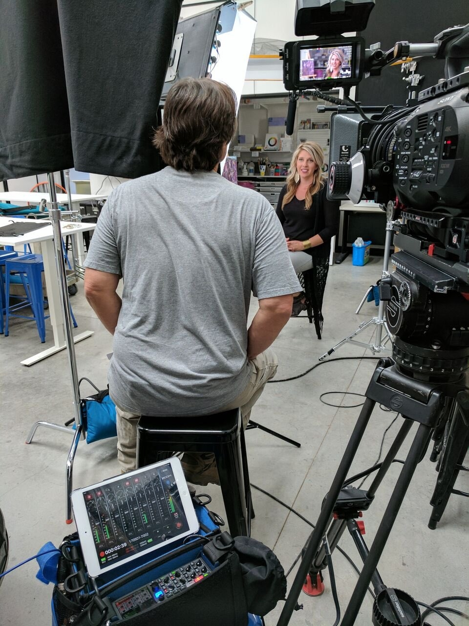 Interviewing Sarah King, Community Art House Director.