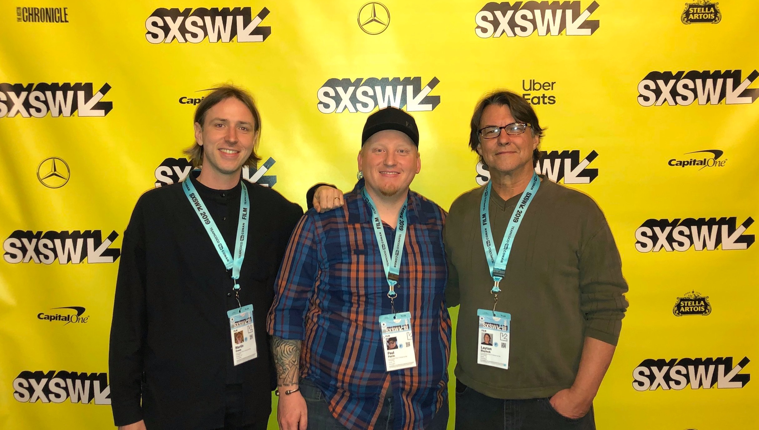 Martin, Paul, and Layton at SXSW screening. Photo by Leeann Funk