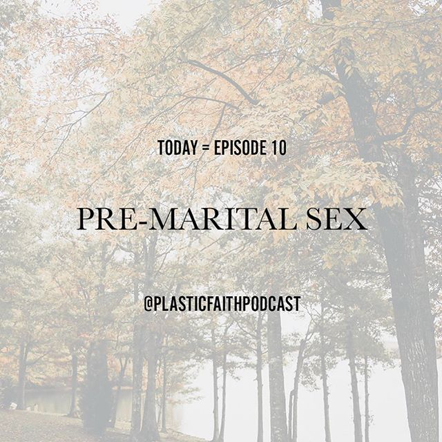 Today we released our TENTH EPISODE! What better way to start off fall than with discussing pre-marital sex. Say what?! Scary subject but a VERY important topic of discussion for believers. What does it look like for the believer & sex outside of marriage? What is it supposed to look like? There are lots of opinions on this one, but only one truth. Go check it out & let us know what you think! #plasticfaithpodcast www.plasticfaithpodcast.com