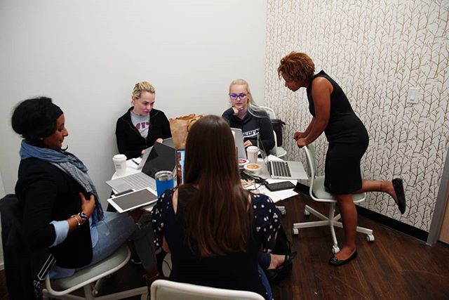Team EmpirEqual hard at work to win that 10K in funding tomorrow!  #startherenow #startups #opportunity #womenentrepreneurs #design #htx #eado #growth
