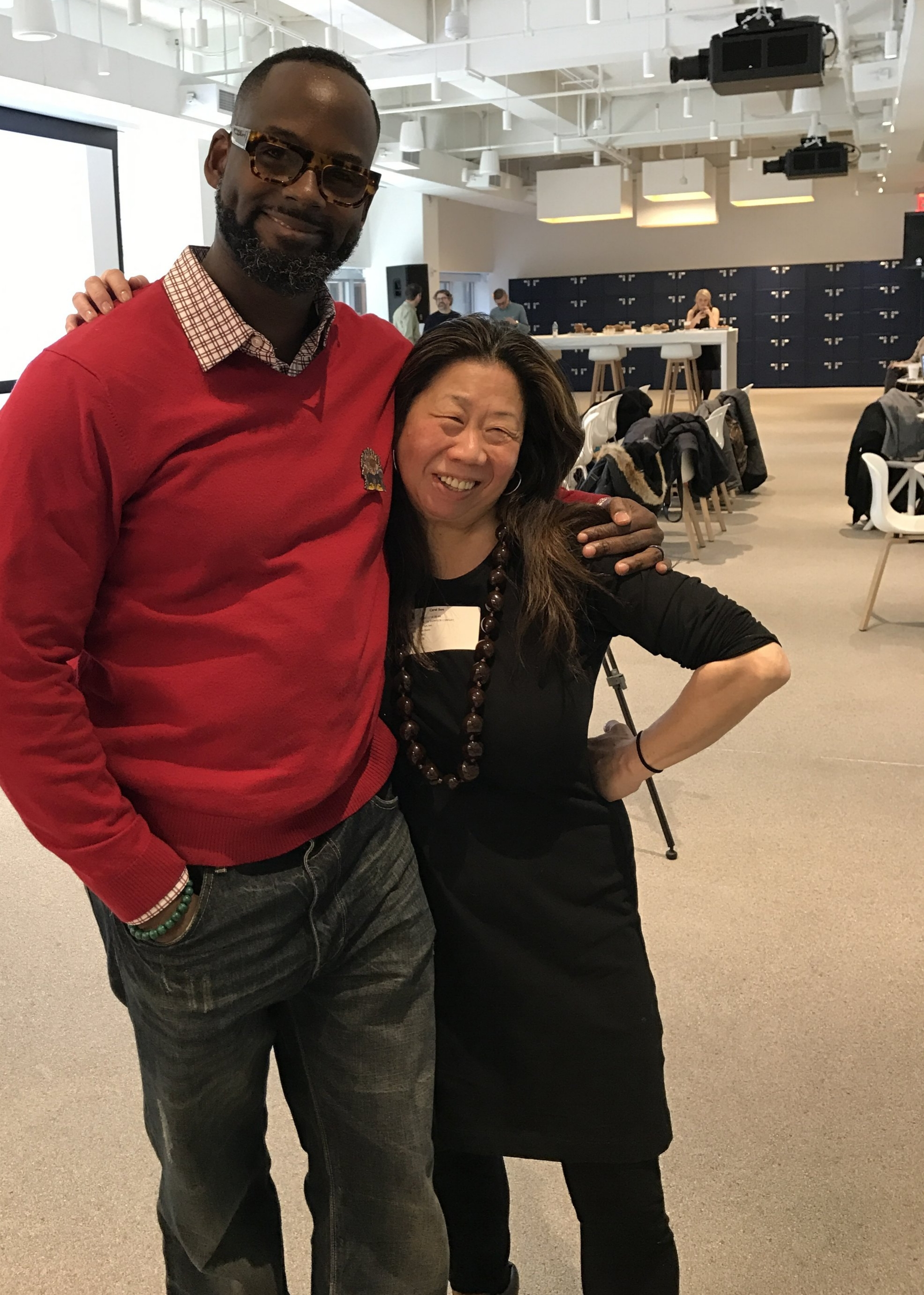 Keni and Ms. Sun at his agency JWT last spring at our REACT student advertising competition.
