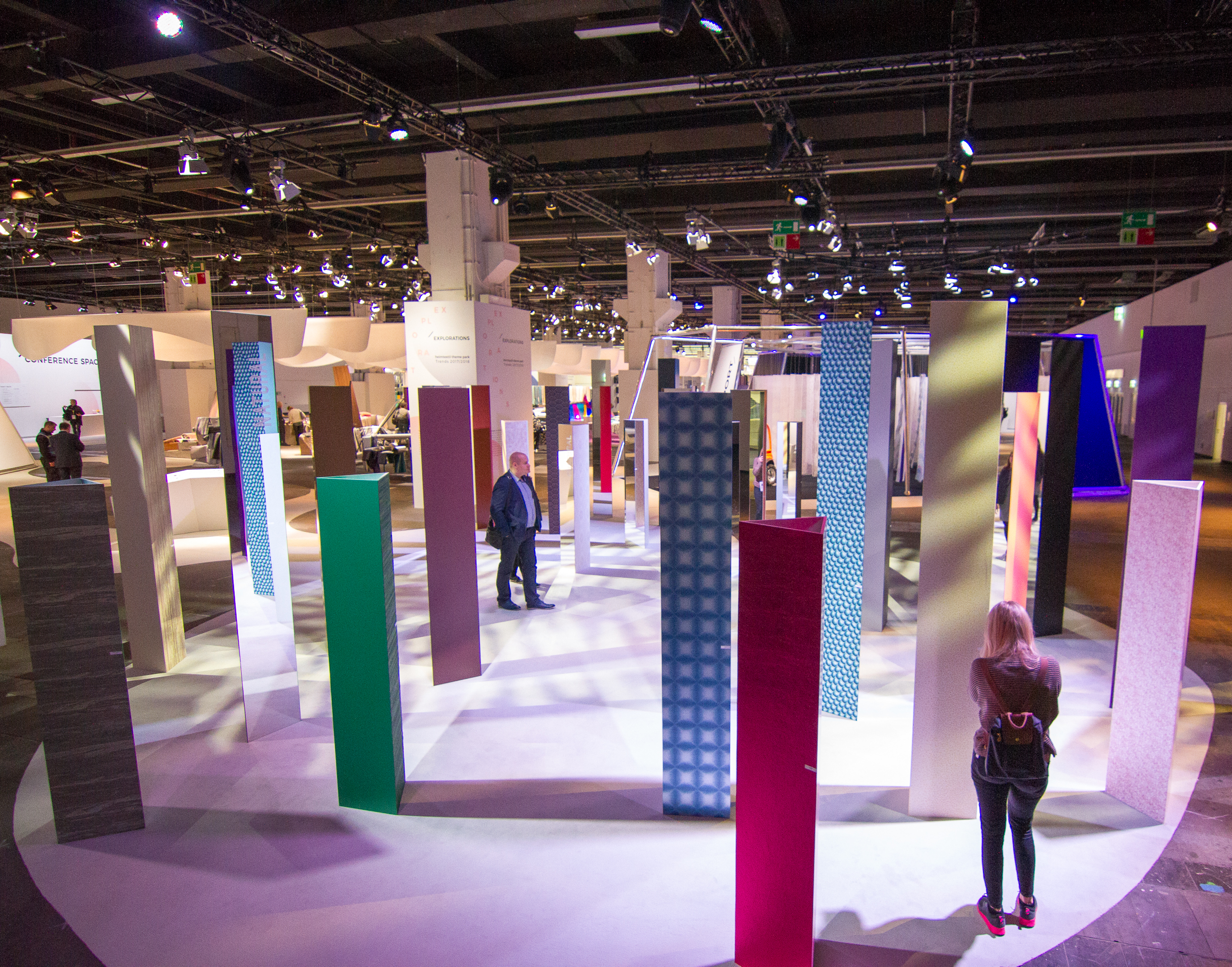 "Heimtextil in Frankfurt is the first major design fair each year. An entire hall is dedicated to major trends in an  exhibit called the 'Theme Park'. In 2017, the theme is ""Explorations."""
