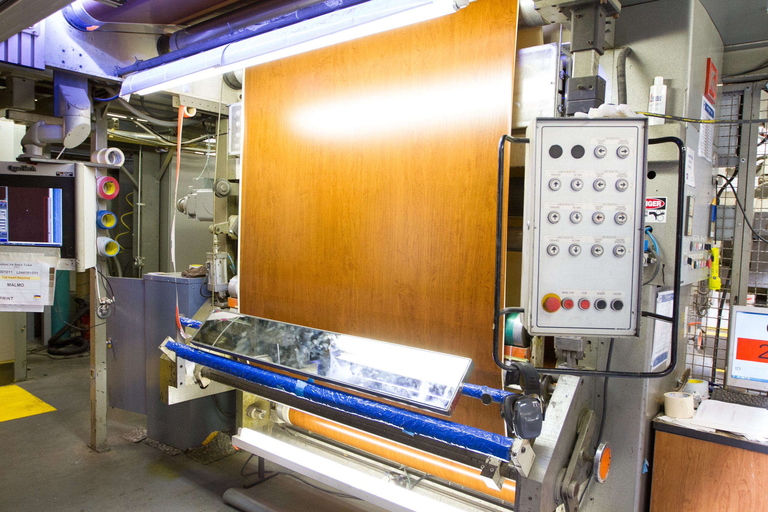 - Quality control and inspection stations throughout the process ensure the color and fidelity are consistent from the beginning to the end of a production run, and from order to order, year in and year out.