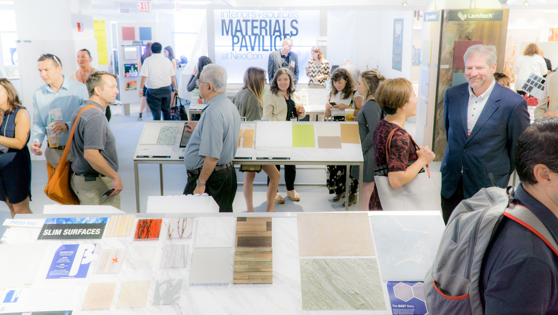 PUt your products in front of thousands of specifiers in the neocon materials pavilion