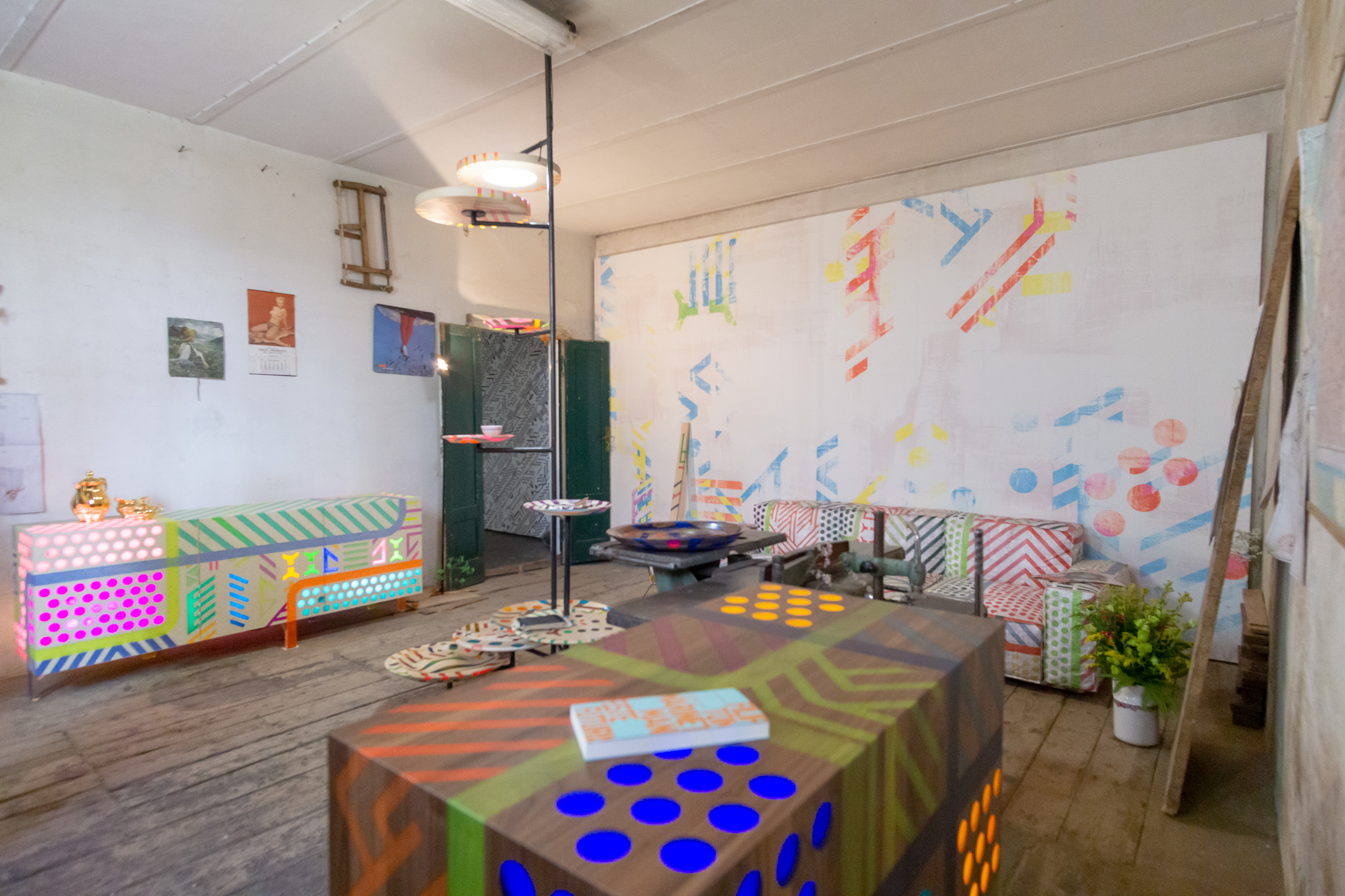"Digitally printed wallpaper in The Forgotten Laboratory,"" Markus Benesch Creates/Curious Boy."
