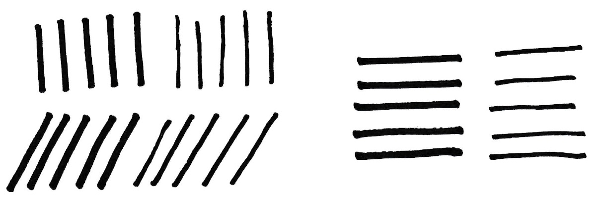 Calligraphy Drills - Straight Lines
