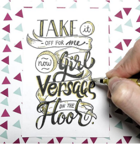 Versace on the Floor Lettering - nathanielong