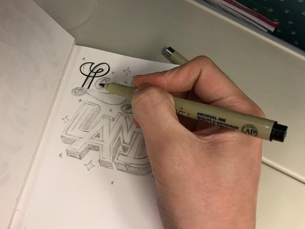 La La Land Lettering in the plane - nathanielong
