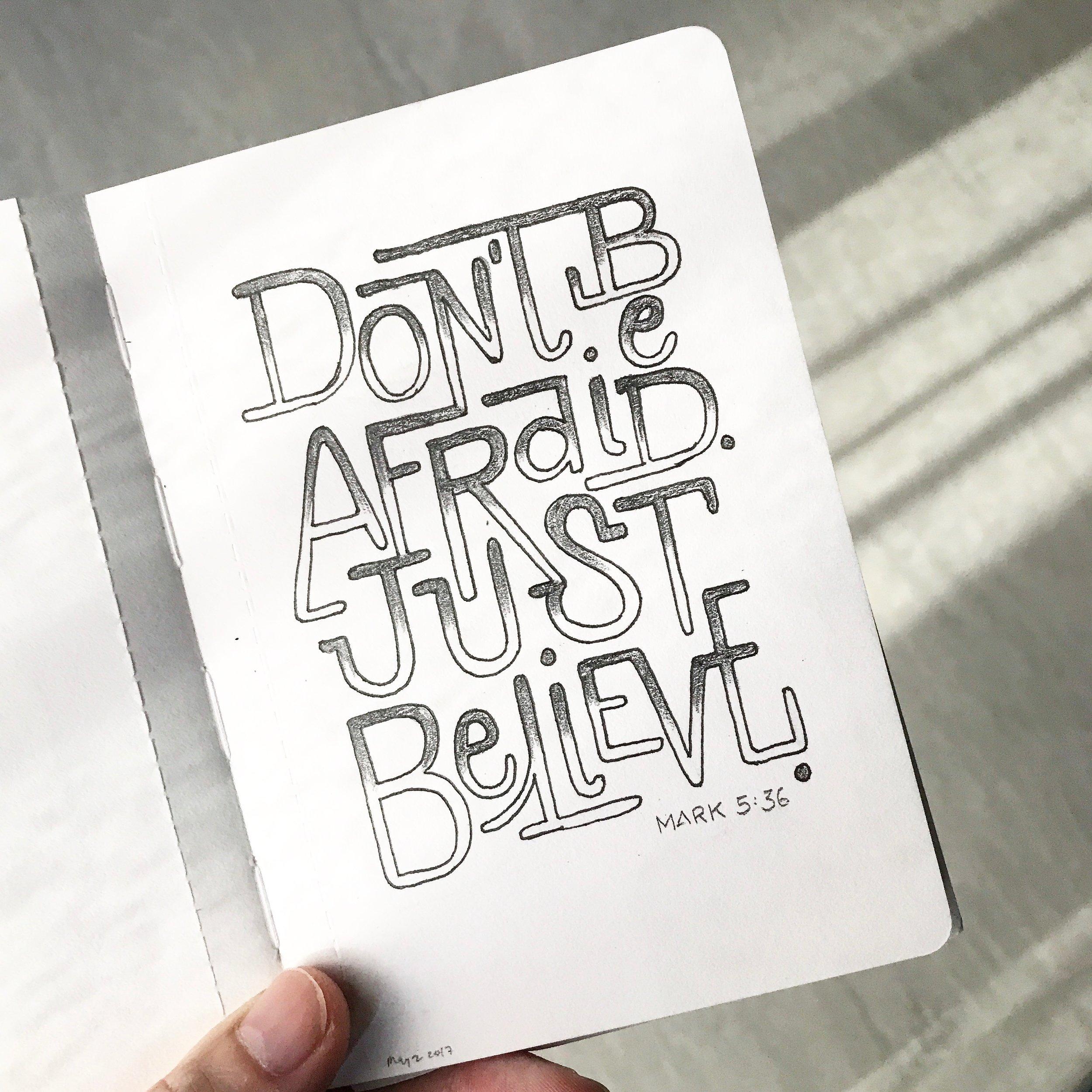 Pocket notebook lettering
