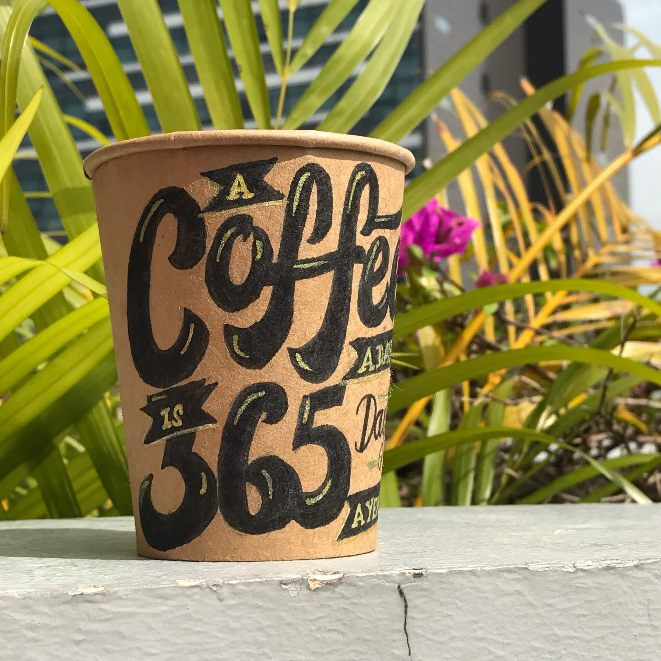 Coffee Cup Lettering