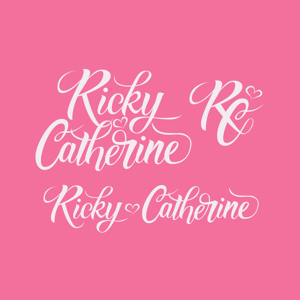 Ricky and Catherine Wedding Monogram