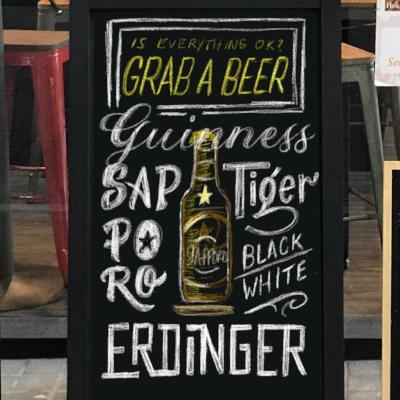iPad Draft for the Beer chalkboard
