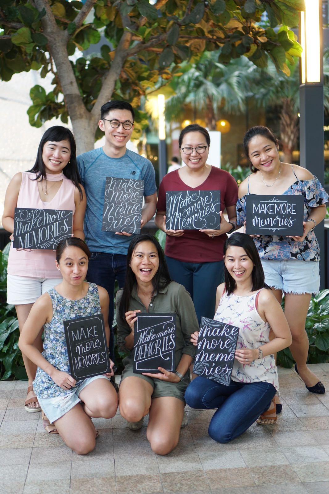 July 7, 2018 - Chalk Lettering Workshop at Caffe Vergnagno