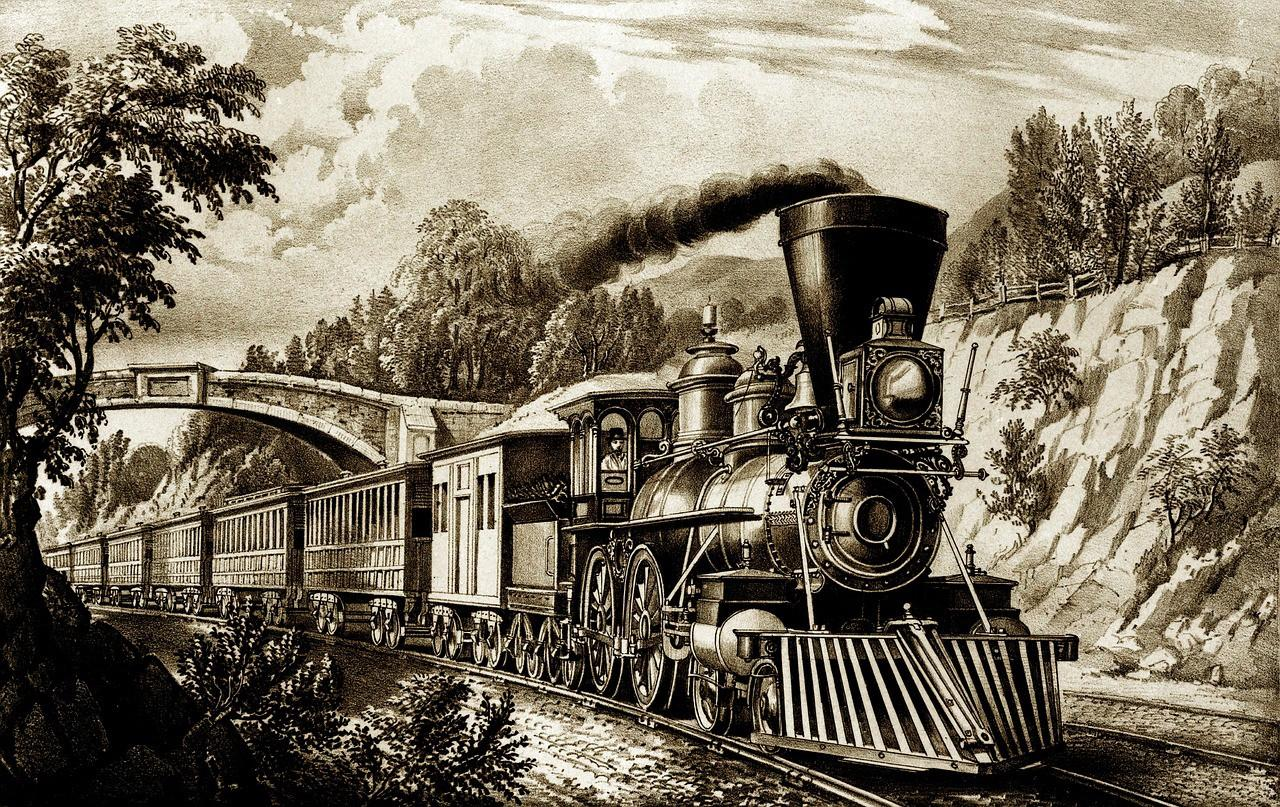 Source: researchgate.net, Steam locomotive powered by coal in the industrial revolution