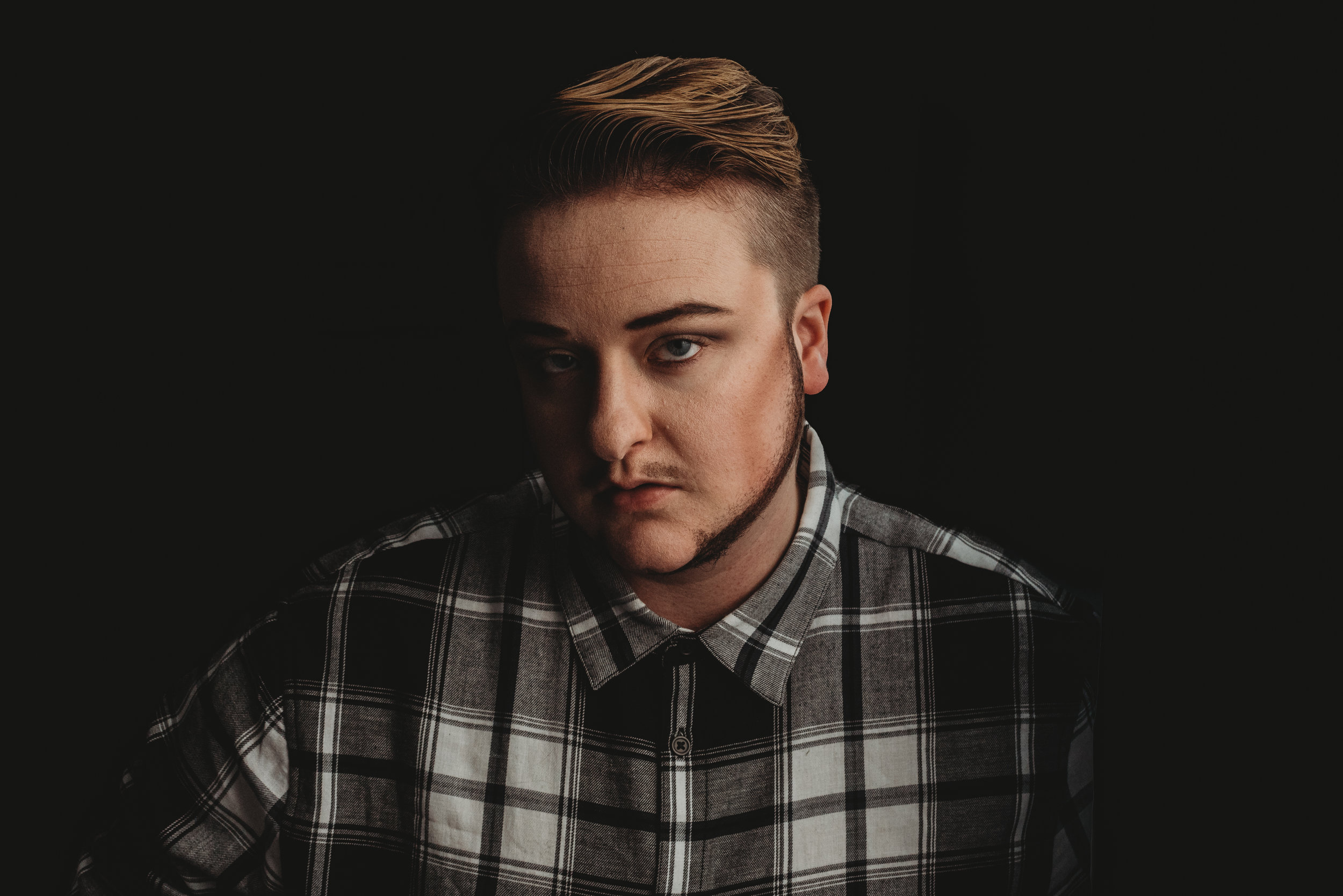 When I'm feeling fancy, I like to do makeup, another form of art, on myself. This is me making myself look like a man with a fake beard and masculine contouring. I did this for a birthday celebration for my 25th when I went out with friends.