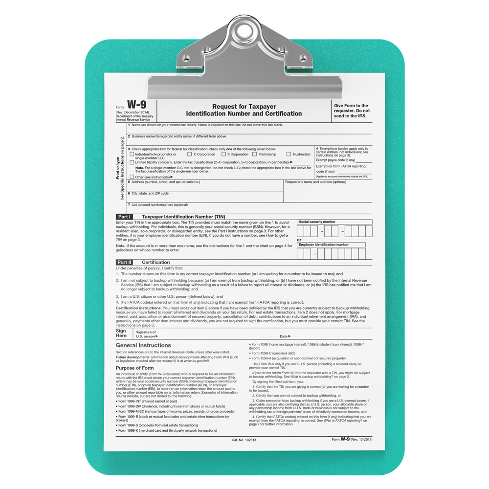 Manadatory W-9 Form -