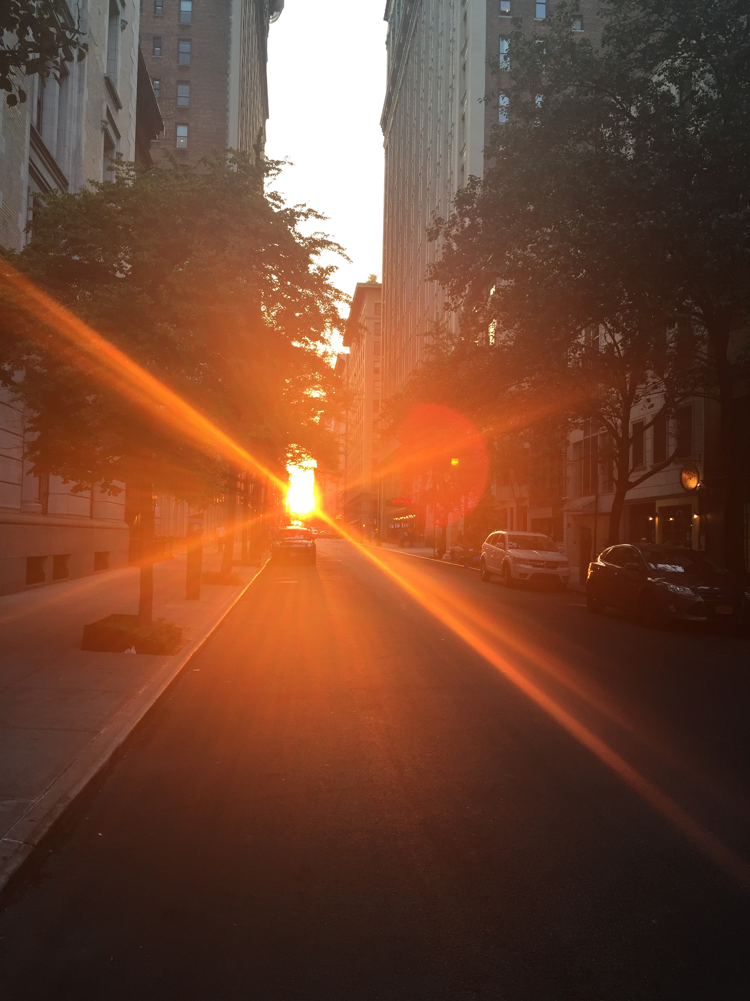 Walking home from my evening pilates sweat session - Gramercy Summer Solstice