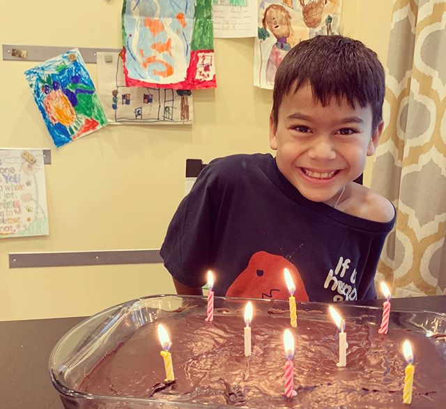Happy eighth birthday to this funny, happy, entertaining, artistic, dramatic, and determined little boy. I'm so glad he joined our family as a sweet three year old. I can't imagine a day without him!